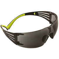 3M SecureFit Protective Eyewear 400 Series, Grey Anti-Scratch and Anti-Fog Lens, Frameless with Black Temple