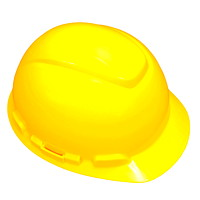 3M H-702R Hard Hat, 4-Point Ratchet Suspension, Yellow