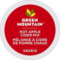 Green Mountain Hot Apple Cider Mix Single-Serve K-Cup Pods, 24/BX