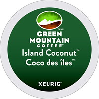 Green Mountain Coffee Single-Serve K-Cup Pods, Island Coconut, 24/BX