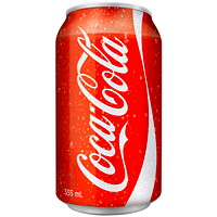 Coca-Cola Soft Drinks, Regular, 355 mL, 24/CT