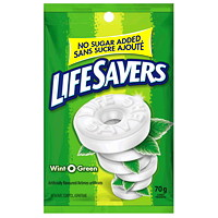 LifeSavers No Sugar Added Wint-O-Green Hard Mint Candy