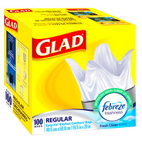 Glad Easy-Tie Kitchen Catchers Garbage Bags With Febreze Freshness