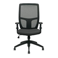 Offices To Go Format High-Back Simple Synchro-Tilt Chair, Black, Fabric Seat/Mesh Back
