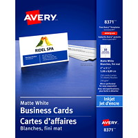 Avery Micro-Perforated Business Cards for Inkjet Printers, Matte White, 2