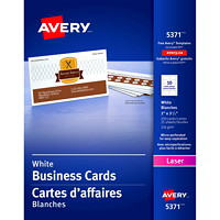 Avery Micro-Perforated Business Cards for Laser Printers, Matte White, 2