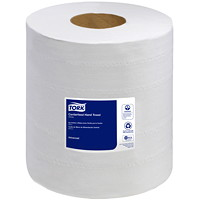 Tork 2-Ply Advanced Soft Centerfeed Hand Paper Towels, White, 610 Sheets/Roll, 6/CT