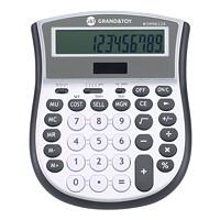 Calculatrice de bureau Grand & Toy, argent et gris, très grand affichage à 12 chiffres