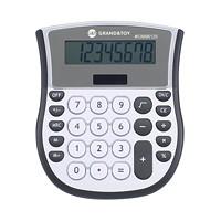 Calculatrice de bureau Grand & Toy, argent et gris, très grand affichage à 8 chiffres