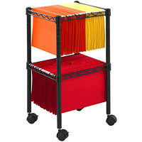 Safco 2-Tier Mobile File Cart