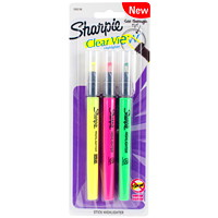 Sharpie Clear View Stick Highlighters, Fluorescent Yellow/Pink/Green, Chisel Tip, 3/PK
