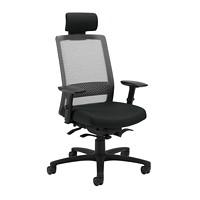 Global Spritz Weight Sensing Synchro-Tilter High-Back Ergonomic Chair, With Headrest