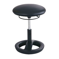 Safco Twixt Seating Ergonomic Stool, Seat-Height, Black, Vinyl