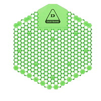 Tamis d'urinoir désodorisant avec technologie enzymatique 3DShield Dustbane, concombre et melon, caisse de 10