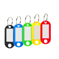 Merangue Plastic Key Tags