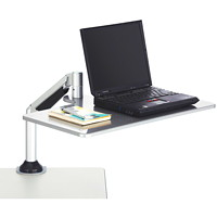 Safco Desktop Sit-To-Stand Clamp-On Laptop Workstation