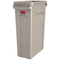 Rubbermaid Slim Jim Bin, Beige, 23-Gallon Capacity