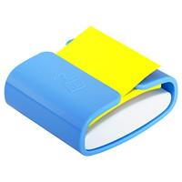 Distributeur bleu pervenche de feuillets éclair 3po x 3po Post-it de couleur jaune canari