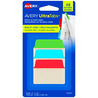Avery UltraTabs Repositionable Multi-Use Tabs, Assorted Primary Colours, 2