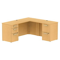 Bush 300 Series L-Desk with 42