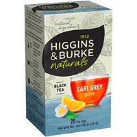 Higgins & Burke Naturals, Eary Grey Grove Black Tea, 20/Bx
