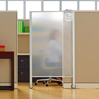 Quartet Workstation Rolling Privacy Screen, Full Length, 38