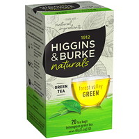 Higgins & Burke Naturals Forest Valley Green Tea, 20/Bx