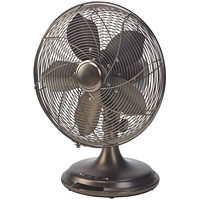 Ventilateur de bureau oscillant de style rétro 12 po EcoHouzng