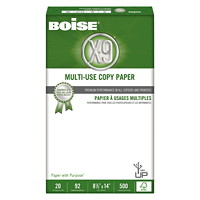 Boise X-9 Multi-Use Copy Paper, FSC Certified, 20 lb., White, Legal-size (8 1/2