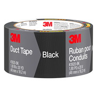 3M Duct Tape, Black, 48 mm x 18.2 m