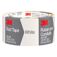 3M Duct Tape, White, 48 mm x 18.2 m