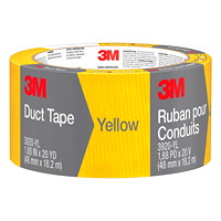 3M Duct Tape, Yellow, 48 mm x 18.2 m