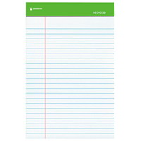 Grand & Toy Recycled Ruled Writing Pads, White, 5