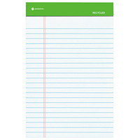 Grand & Toy Recycled Ruled Writing Pads, White, 8 1/2