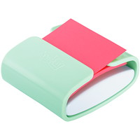 Distributeur vert menthe de feuillets éclair 3po x 3po Post-it de couleur rose