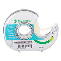 Grand & Toy Tape with Refillable Dispenser, Crystal Clear, 12 mm x 33 m