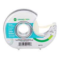 Grand & Toy Tape with Refillable Dispenser, Crystal Clear, 18 mm x 33 m