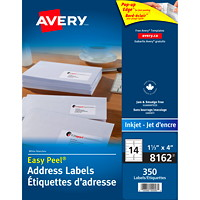 Avery 8162 Easy Peel Address Labels, White, 1 1/3