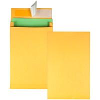 Quality Park Redi-Strip Self-Adhesive Expansion Envelopes, Kraft, 9