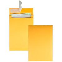 Quality Park Redi-Strip Self-Adhesive Expansion Envelopes, Kraft, 10