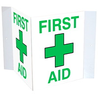 Safety Media 3D First Aid Plastic Sign