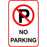 Safety Media Aluminum Parking Sign