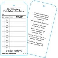 Étiquette pour le relevé des inspections périodiques des extincteurs Safety Media