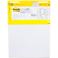 Tablette de feuilles autocollantes en format chevalet blanc Post-it, emballage de 2 pochettes