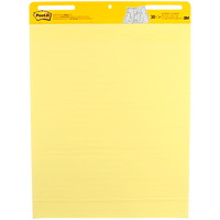 Post-it Super Sticky Self-Stick Lined Yellow Easel Pads