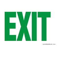 Safety Media Photoluminescent (Glow-In-The-Dark) Exit Sign