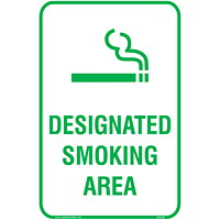 Safety Media Designated Smoking Area Sign