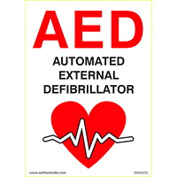 Safety Media Automated External Defibrillator (AED) Plastic Sign