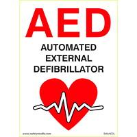 Enseigne en plastique défibrillateur externe automatique (DEA) Safety Media