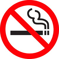 Safety Media No Smoking Symbol Sign, Indoor Use